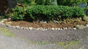 new flower bed - mulched