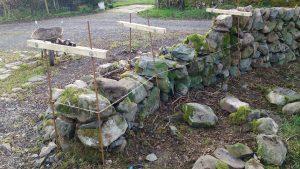 stone dyke repairs during