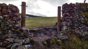 new gateway in dry stone dyke