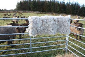 felted fleece rug - hand made