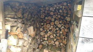 wood shed almost full