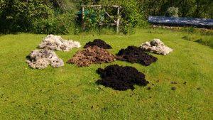 shetland fleeces drying in sun