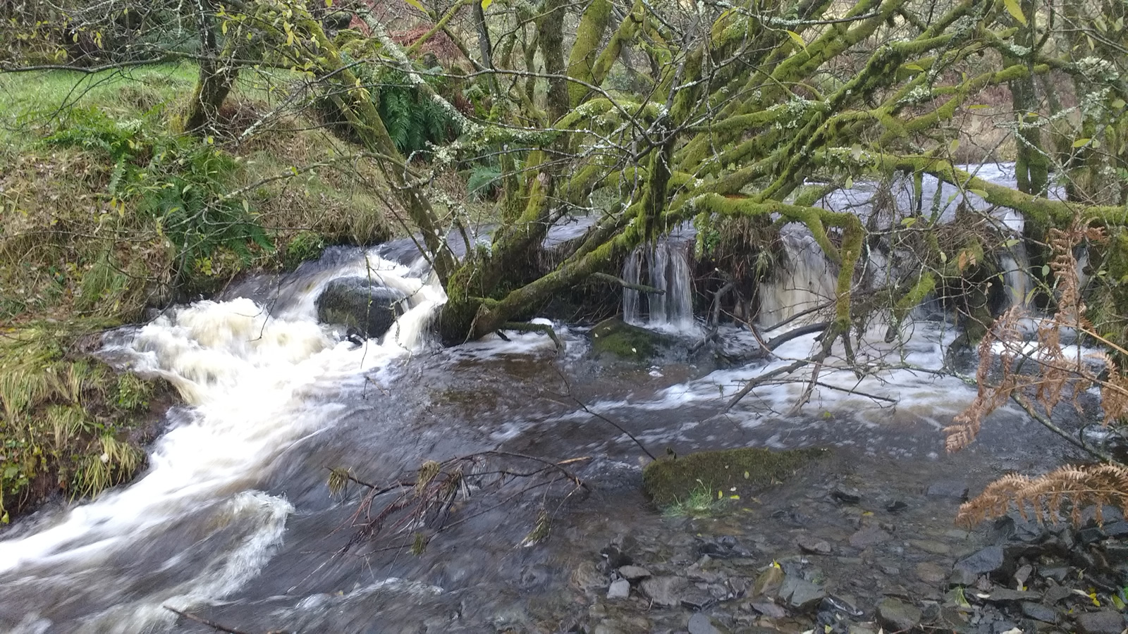 Stroanshalloch Burn after rain