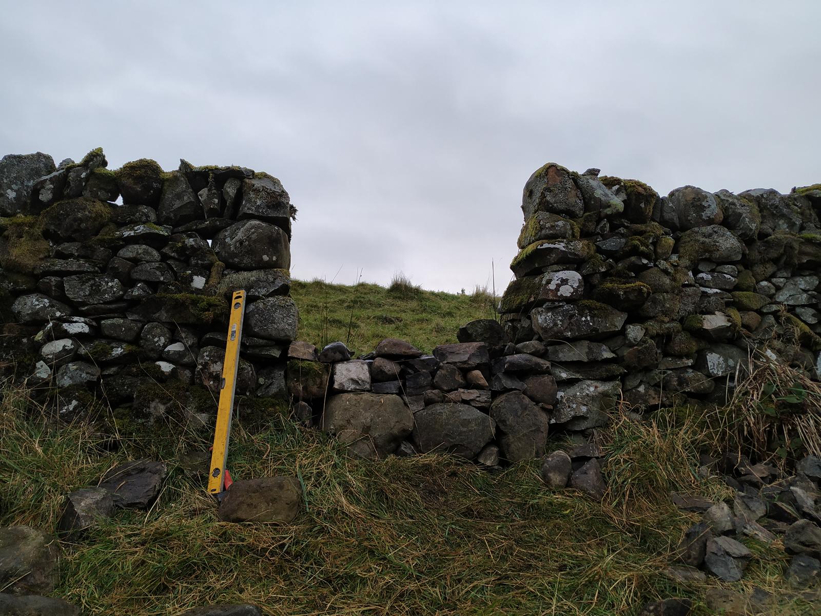 stone dyke gap half filled
