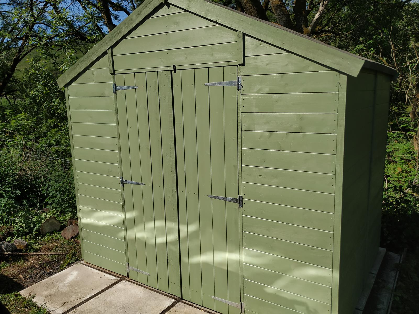 shed built
