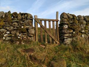 Gate gap (unneeded) in stone dyke