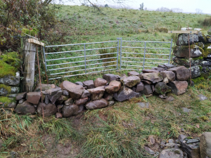 disused gateway rebuilt with stone dyke 2