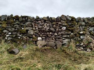 Gate gap (unneeded) in stone dyke - repair complete