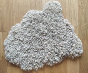 felted fleece rug - Coloured Ryeland - Yogi & Witchy combined