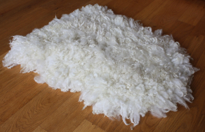 felted fleece rug - Mule (BFL x Swaledale)