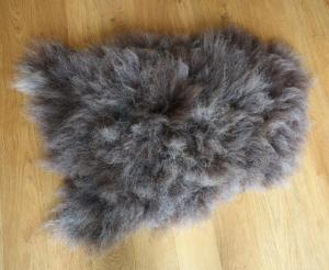 felted fleece rug - unusual, dark woolled Cheviot